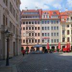 "Fast fertig gestelltes Bauprojekt der USD: ""Neumarkt Palais City One"" (links im Bild)"