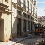 Die Arbeiten am ehem. Kaufhaus Le petit Bazar an der Frauenstraße gehen weiter.
