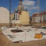 Arbeiten am Fundament im Quartier III (Palais Hoym-Komplex)
