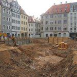 Quartier VII-1 (Baywobau) - Arbeiten an der Baugrube