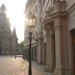 Blick am Morgen vom Regimentshaus zur Frauenkirche