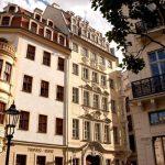 Heinrich-Schütz-Residenz mit rundem Erker