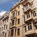 Quartier VI mit den wiederhergestellten Fassaden an der Frauenstraße