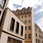 Namenlose Gasse hinter den Wohnbauten an der Wilsdruffer Straße