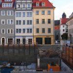 Baugrube QVII-1 mit Original-Keller vom Leitbau des Caesarschen Hauses (Schössergasse 25)