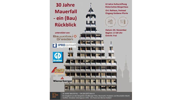 GHND-Pressemitteilung: 30 Jahre Mauerfall – ein (Bau)Rückblick