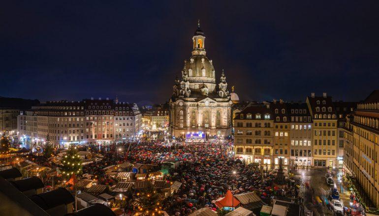 27. Weihnachtliche Vesper vor der Frauenkirche am Montag, 23. Dezember 2019, 17 Uhr