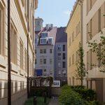 Blick auf das Regimentshaus, links das Johanneum, rechts das Quartier VIII