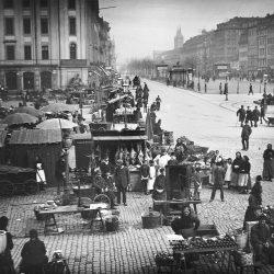 df_hauptkatalog_0400367_ Donadini, Ermenegildo Antonio_ Dresden-Neustadt. Neustädter Markt mit Verkaufsständen. Blick nac... , vor 1892