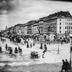 df_hauptkatalog_0400370_ Donadini, Ermenegildo Antonio_ Dresden-Neustadt. Neustädter Markt mit Reiterdenkmal Augusts des ... , vor 1893