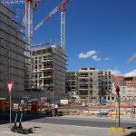 Baustelle des Quartiers III/2 von der Landhausstraße aus