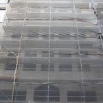Rohbau des in Rekonstruktion befindlichen Hauses Landhausstraße 3