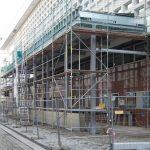 Baustelle der Schallschutzschleuse am Kulturpalast